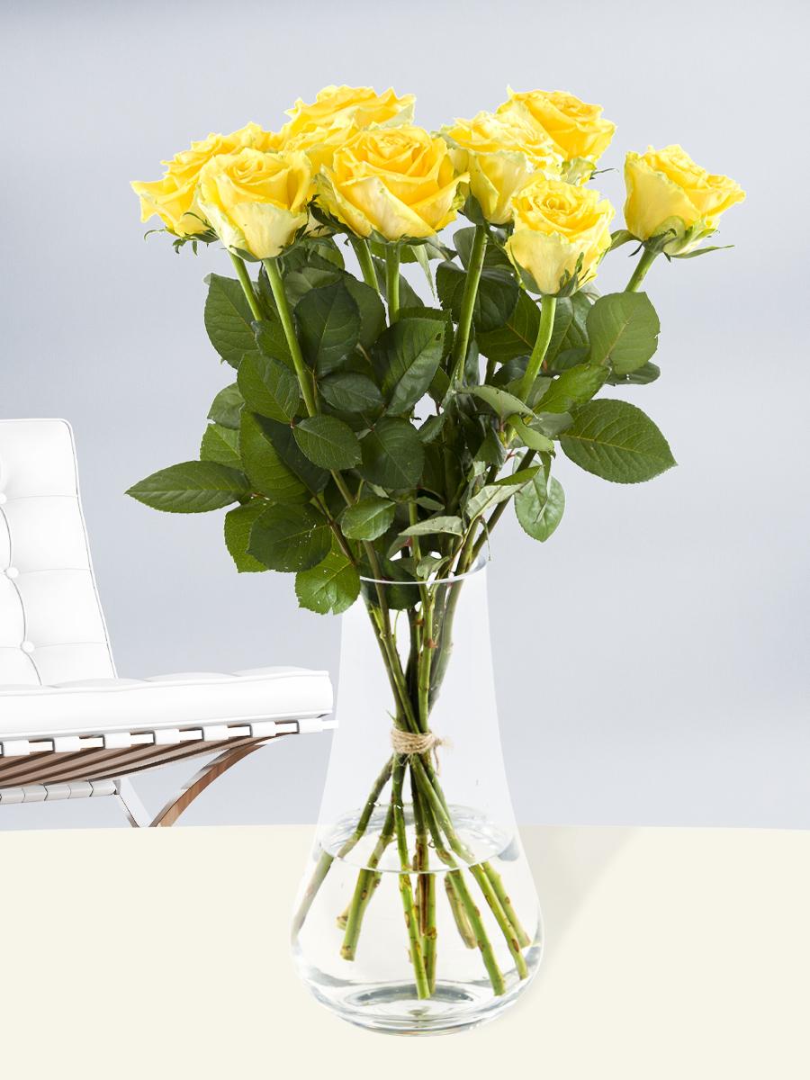 10 gele rozen - Good Times | Rozen online bestellen & versturen | Surprose.nl