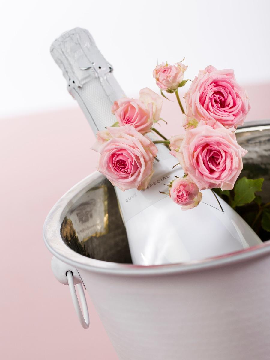 Rozen en champagne