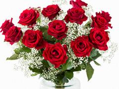 Populair boeket rode rozen