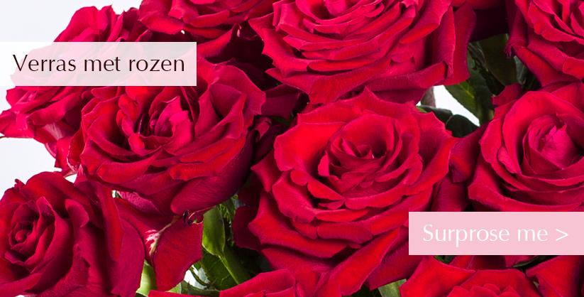 Rode rozen versturen