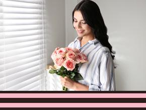 Rozen voor internationale vrouwendag